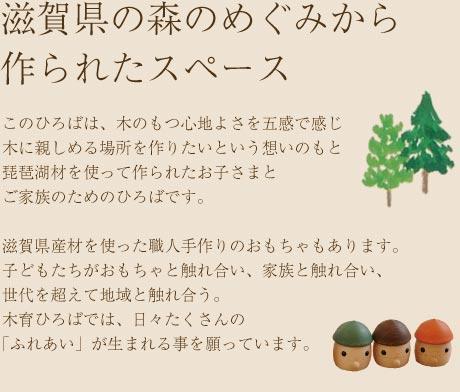 滋賀県の森のめぐみから作られたスペース
