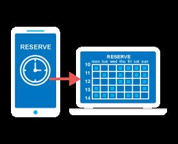 アプリからの予約により、予約対応業務を効率化